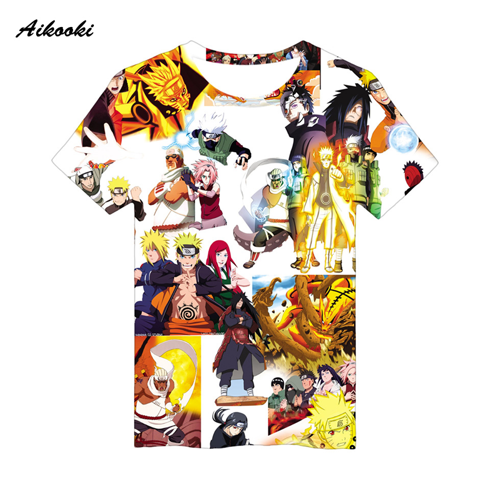 Aikooki Naruto 3d Full Print T Shirt Women Men