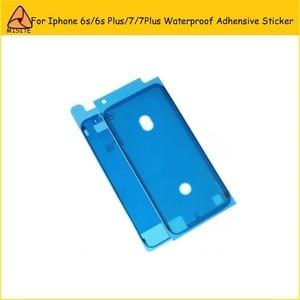 50 шт./лот, водонепроницаемая клейкая наклейка для iPhone 6S 6splus 7 7G Plus 3M, передняя панель, ЖК-рамка, предварительно вырезанная клейкая лента для ре...