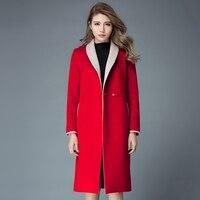 2016 New Hot Spring Autumn Woman Coat Parkas Wool Jacket Outerwear Luxury Long Plus Size 3XXXL