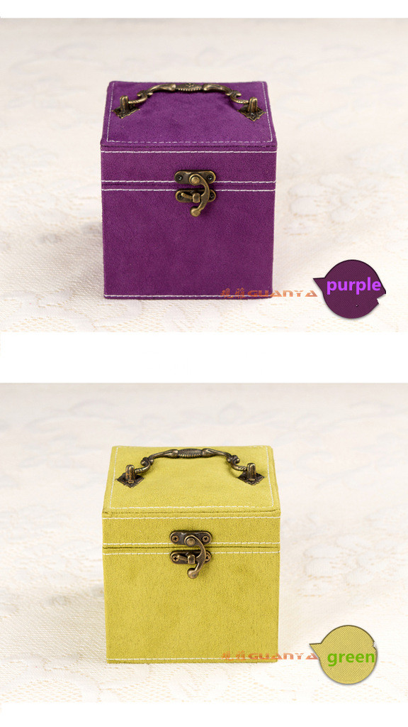 Han Edition Of Rabbit Hair Three Layers Jewelry Box Content Four Color Optional