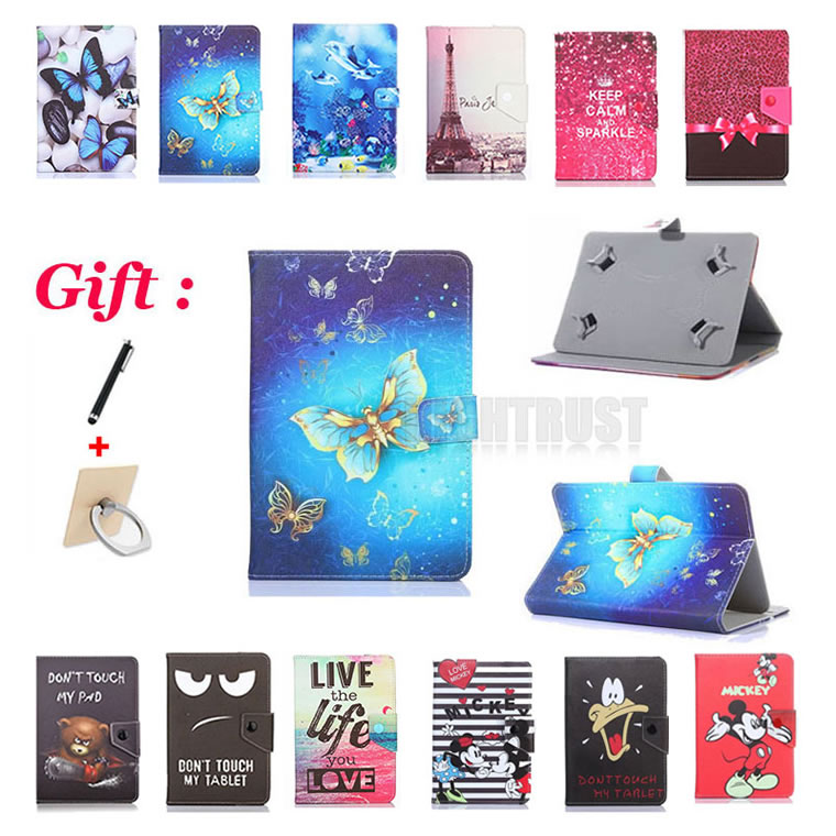Universal <font><b>10.1</b></font> inch Cartoon Pu Leather Stand Case for <font><b>BOBARRY</b></font> <font><b>T109</b></font>/T900/K107SE/S108/T100 3G 4G <font><b>10.1</b></font>