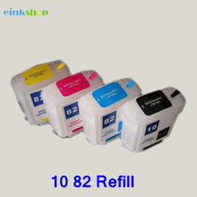 For HP 10 82 for HP Designjet 500 500ps 800 800ps 815MFP 820MFP cc800pc Empty Refillable ink cartridge  69ML недорго, оригинальная цена