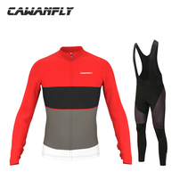 Long Sleeve Breathable MTB Bike Clothing Men Bicycle Clothes Ropa Ciclismo 100% Polyester Cycling Jersey Set Outdoor&Sports