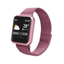 P68 Hot Couple Smartwatch smartband Activity Tracker IP68 Waterproof Bluetooth Sport Bracelet Blood Pressure Wristband цена