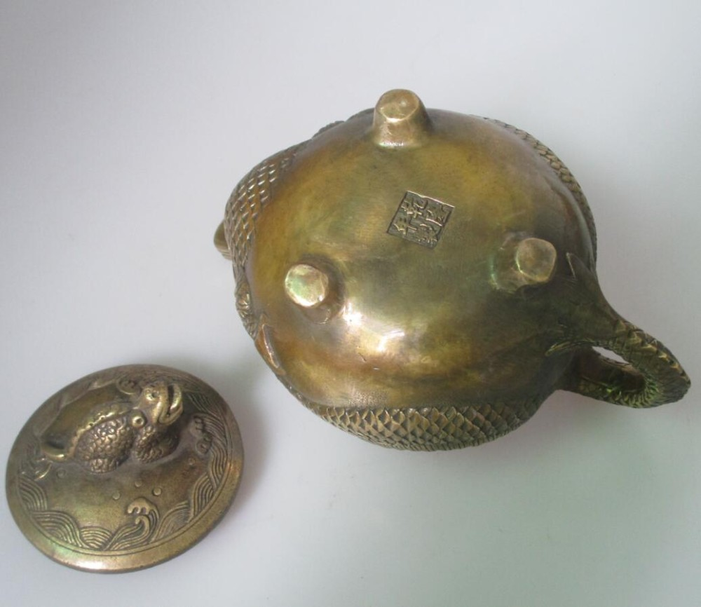 christmas decorations for home+ Collectible Chinese Old Bronze Handmade Dragon turtle Tea pot ,Home Decorative kettlechristmas decorations for home+ Collectible Chinese Old Bronze Handmade Dragon turtle Tea pot ,Home Decorative kettle