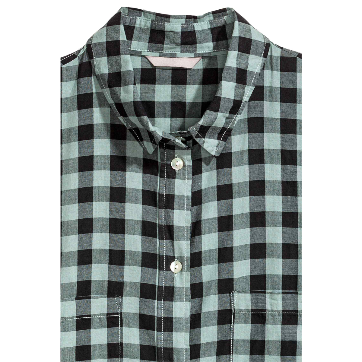 b3491db0631 Lazy KoKo Women Plus Size Button Down Two Pocket Front Shirt Turn Down  Collar Plaid Basic Shirt Large Size Casual Loose Shirt-in Blouses   Shirts  from ...