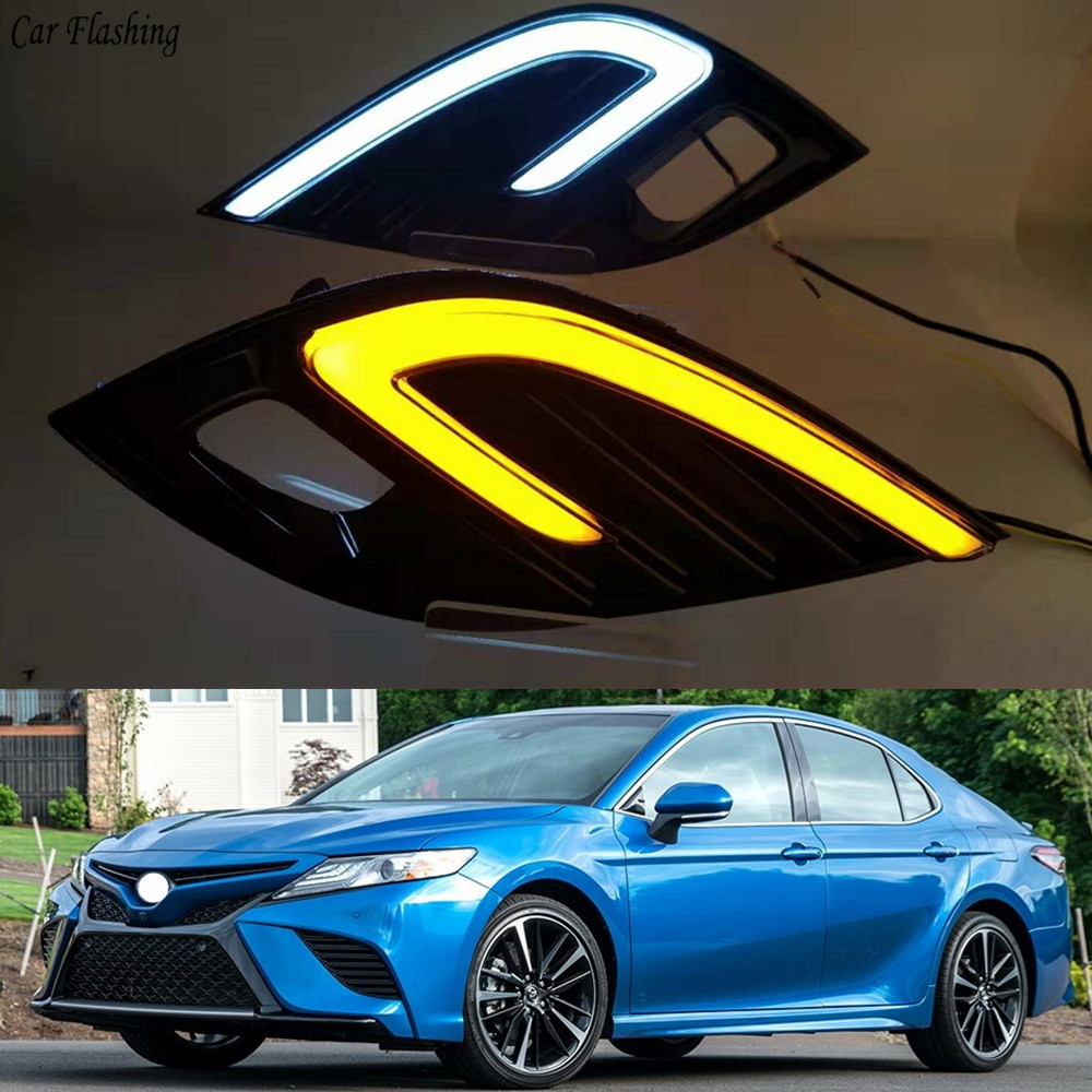 Car Flashing 2pcs For Toyota Camry 2018 2019 XSE SE DRL