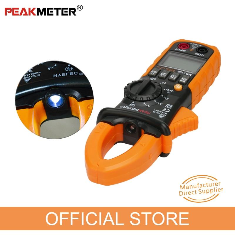 PEAKMETER PM2108 6600 брои AC DC Mini Digital Digital Clamp True - Измервателни инструменти - Снимка 2