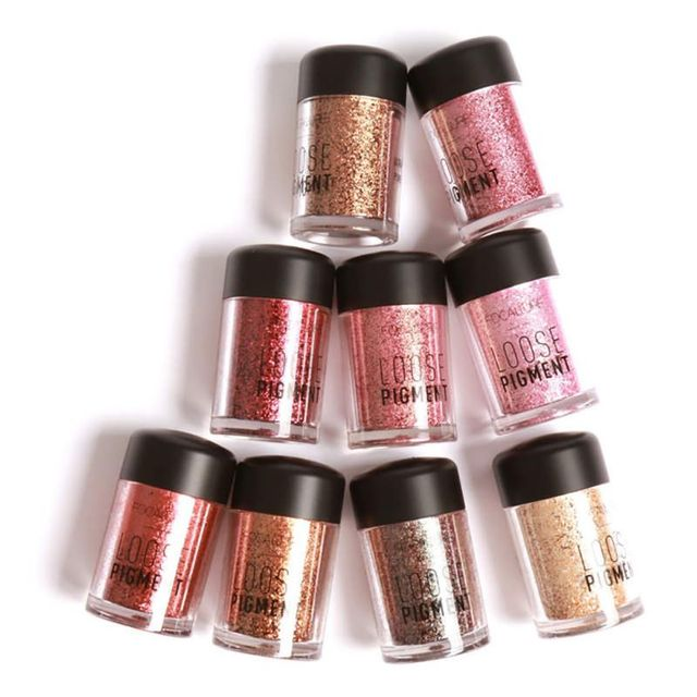 Focallure Pro Makeup Glitter Eyeshadow Cosmetic Makeup Shimmer Pigment Loose Powder Beauty maquiagem Eye Shadow 12 Colors