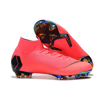 Wholesale 13 Colors MLLZF Superfly VI 360 Elite FG Soccer Shoes Mens High Ankle Football Boots Cleats Free Shipping