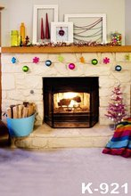 Customize Photobackground For Photo Studio Fireplace Photographic Background Children Computer Printed Christmas Backdrop
