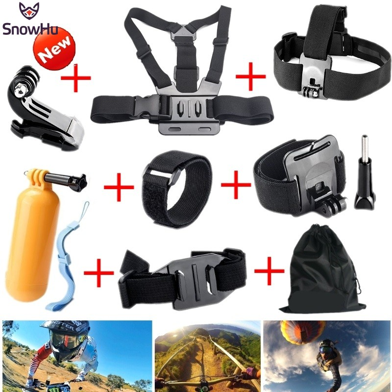 Gopro Accessories Chest Head Strap Monopod Floating Bobber Mount for Go pro Hero 4 3 2