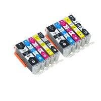 10PC Compatible Canon PGI 570 CLI 571 XL Ink Cartridge Set For Pixma MG5750 MG5751 MG5752
