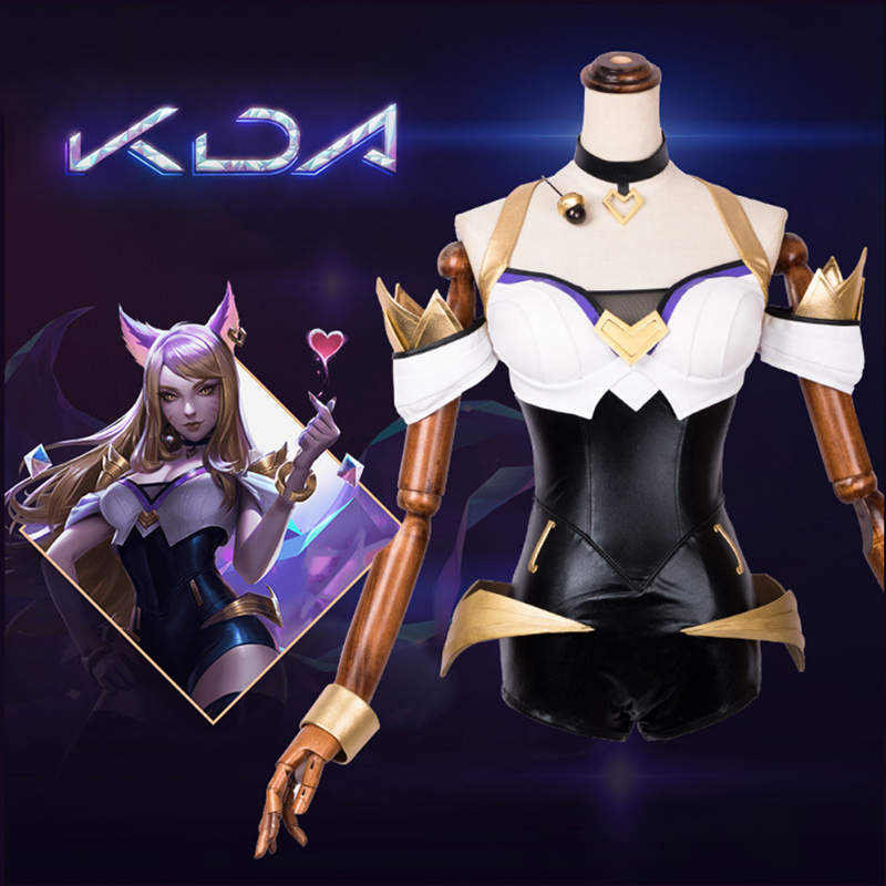 Game LOL KDA Ahri Cosplay Costume New Style The Nine Tailed Fox Women Cospaly Costumes Halloween