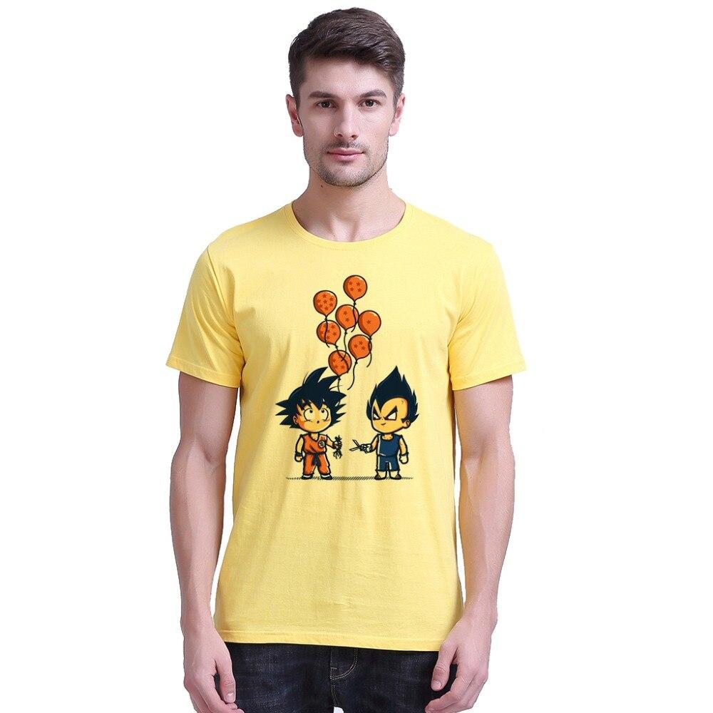 Nyaste Anime Dragon Ball Printing Men T-shirts Goku Vegeta Funny - Herrkläder - Foto 5
