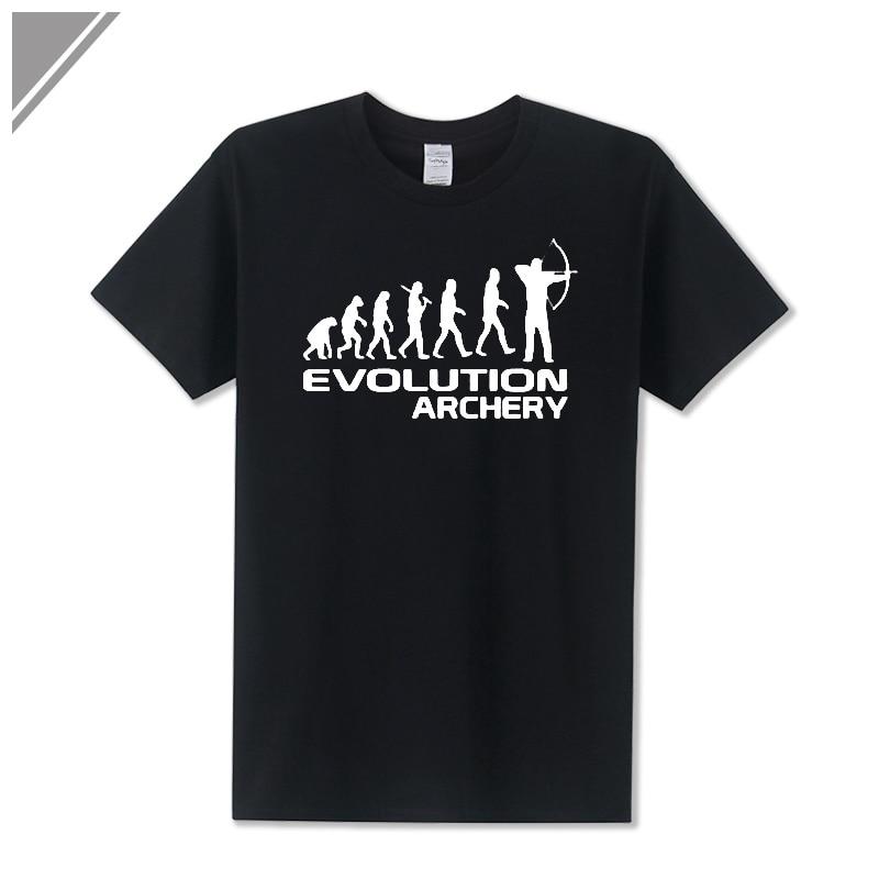 2017 Summer New Man T Shirt Cotton Short Sleeve Human Evolution Of Archery Printed T Shirt Men's Sportswear crop top Playsuits