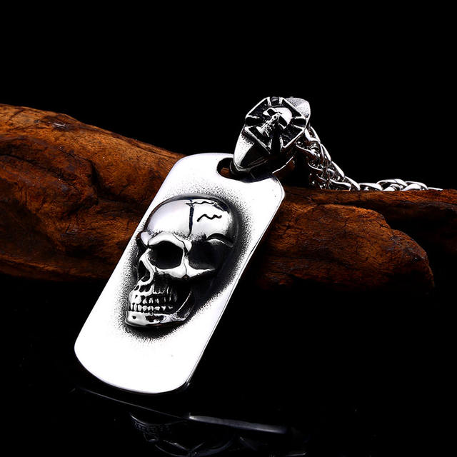 STEELKA STEEL Skull NECKLACE
