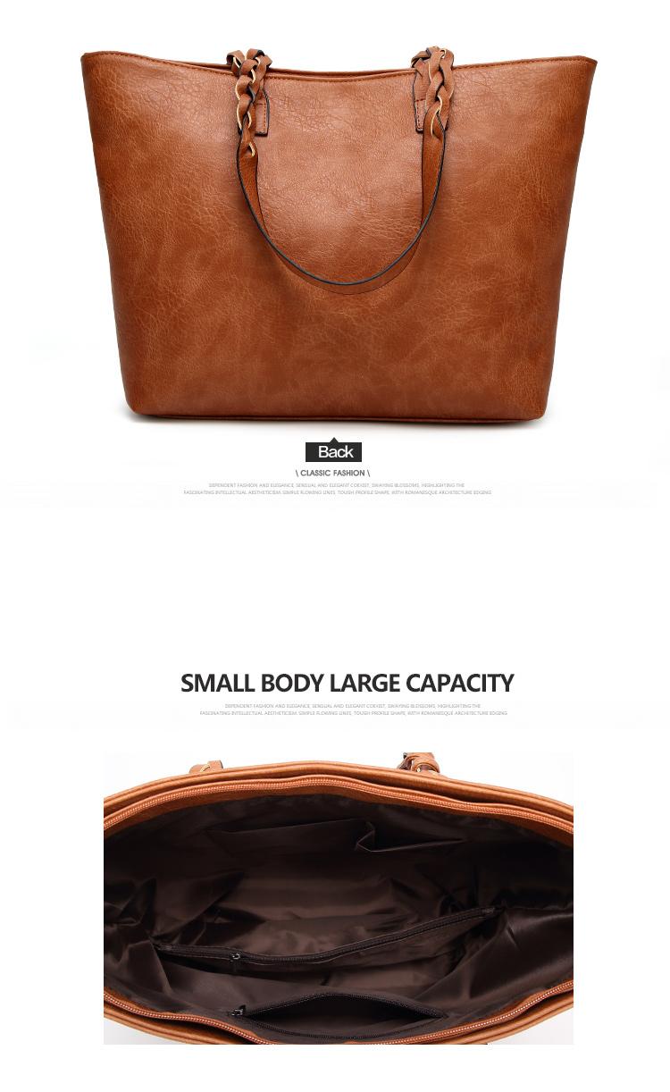 Tinkin  Vintage PU Tassel Women Shoulder Bag Female Retro Daily Causal Totes Lady Elegant Shopping Handbag 12