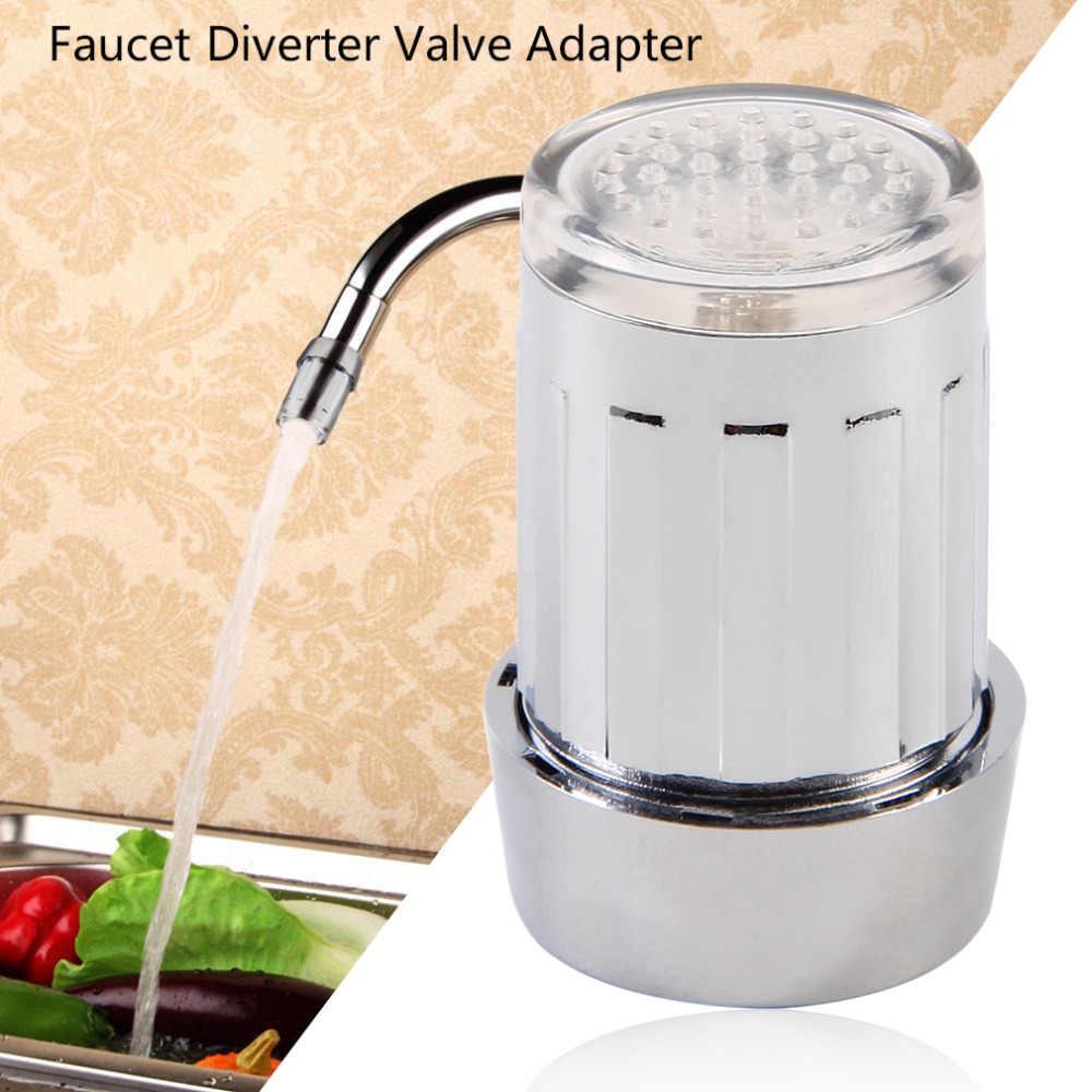 7 цветов уникальный светодиодный свет свечение воды кран Нержавеющаясталь водопроводной воды + кран-отводной клапан в комплект поставки входит адаптер