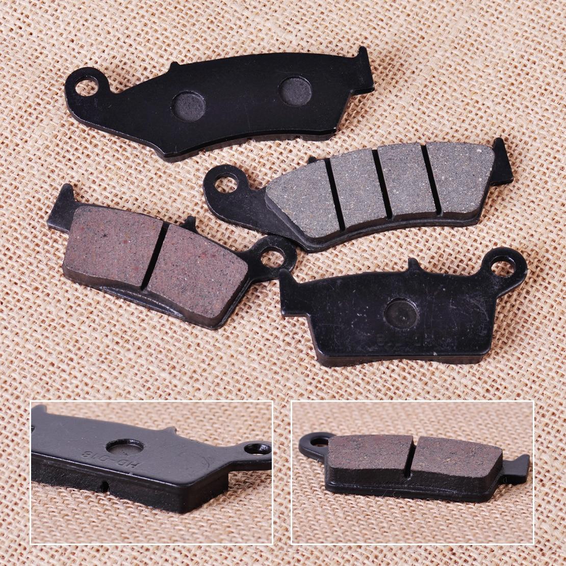 CITALL 4pcs Front & Rear Brake Pad for Kawasaki KX125 KX250 Suzuki RM125 DR-Z400E Honda CR250R CR125R Yamaha YZ125 WR250F YZ400F rm dr rm z 125 250 350 400 450 650 front brake pads
