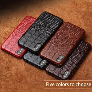Image 5 - Telefon kılıfı Için iphone X 6 6 s Inek Deri iphone 7 7 p 8 Artı kılıf için Timsah Desen 6 p 6sp kılıf Sert Kapak