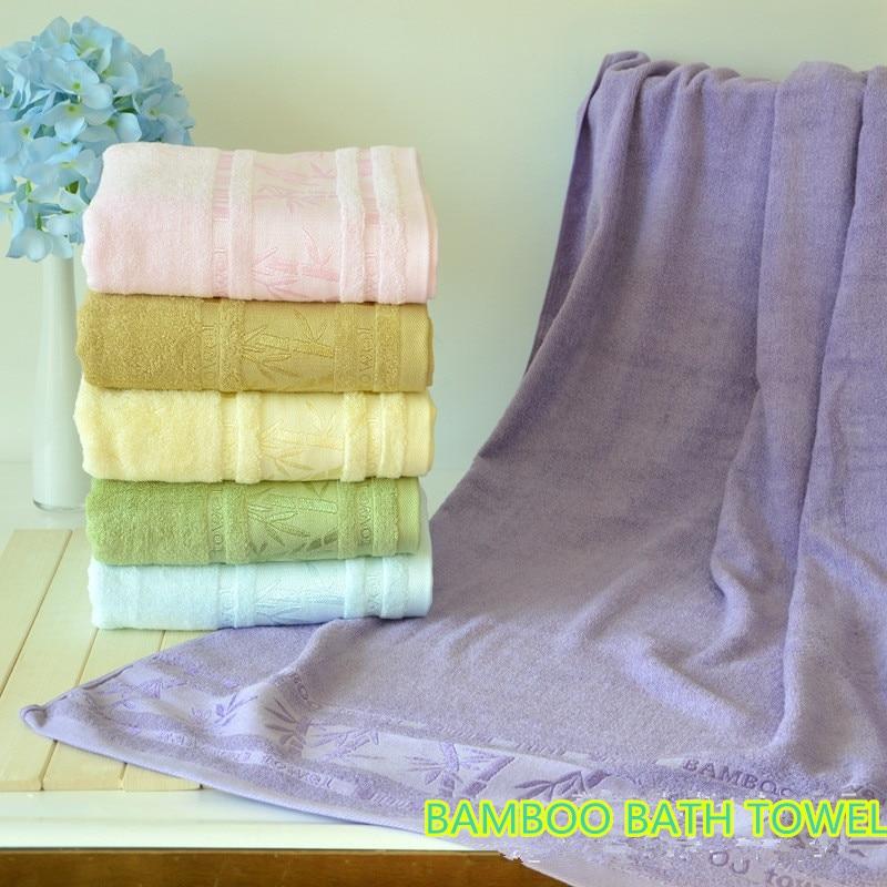 Plain coloured jacquard bamboo fiber bath towel super soft made in China Compressible good Water imbibition Natural bamboo fiber