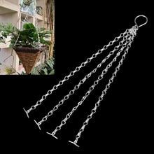 4X садовая подвесная корзина запасные металлические цепи легко подходят Замена вешалка 45 см