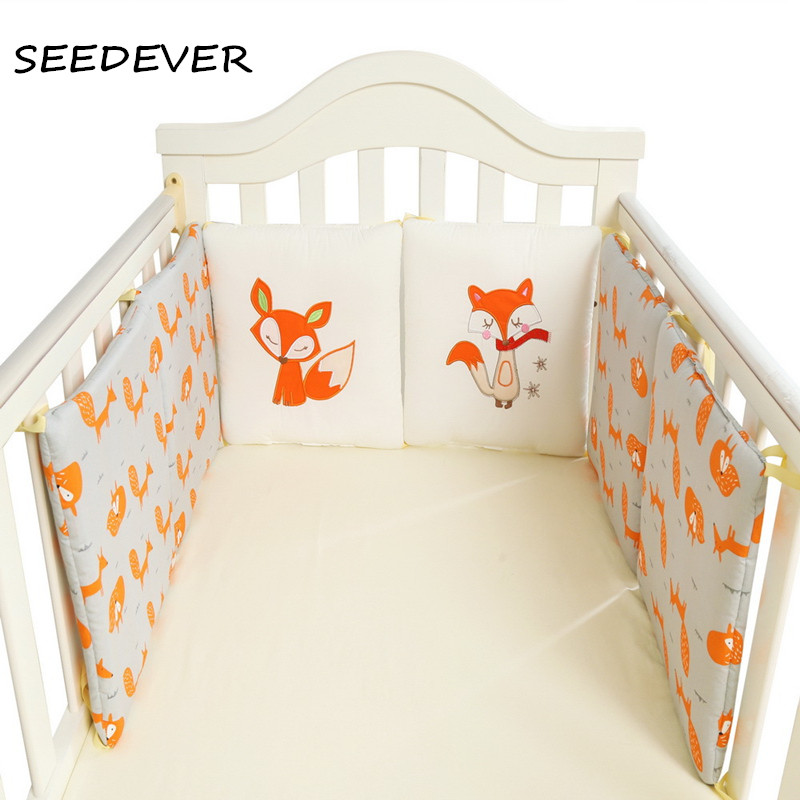 70*30 Bumpers In the Crib For Newborn Cotton Linen Cot Bumper Baby Bed Protector