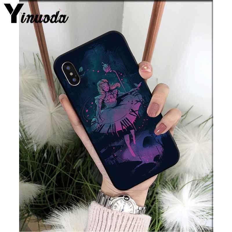 Yinuoda Алиса в стране чудес Чеширский кот на заказ фото мягкие чехол для iPhone X XS MAX 6 6 S 7 плюс 8 5 5S XR