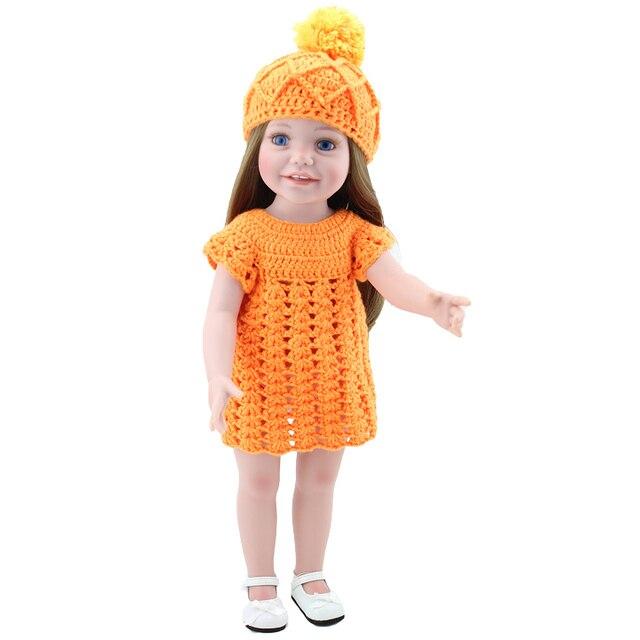 18 \'\'45 cm vinilo niño chica americana Muñecas Juguetes niños jugar ...
