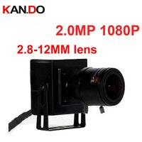 2.0MP 1080 IP camera 2.8 12mm Varifocal Lens H.264 P2P Mini wired internet camera Cctv Security Camera internet camera