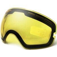 แว่นตาสกี,ยี่ห้อคู่สดใสเลนส์สำหรับแว่นตาสกีคืนสโนว์บอร์ดแว่นตาวิสัยทัศน์สกีเลนส์อ่อนแอ...