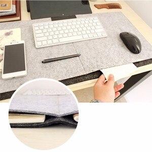 Большой игровой коврик для мыши 67x33 см из шерстяного войлока большой коврик для клавиатуры Удлиненный Настольный коврик и мат для офиса, дом...