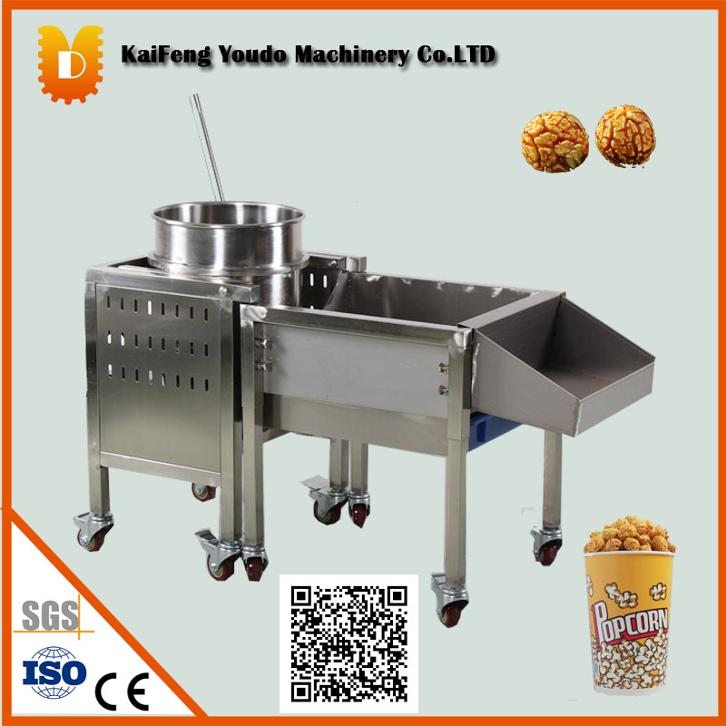 Commercal popcorn making machine/Small popcorn maker/Sweet ball popcorn maker/Automatic spherical popcorn machine commercial automatic caramel making popcorn machine price with wheels