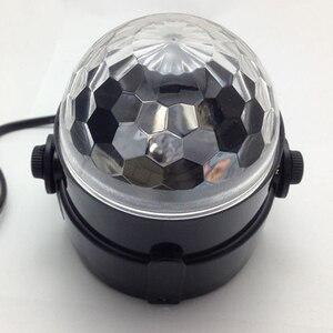 Image 3 - Mini RGB LED Crystal Magic Ball Stage Effect Lighting Lamp Bulb Party Disco Club DJ Light Show Lumiere