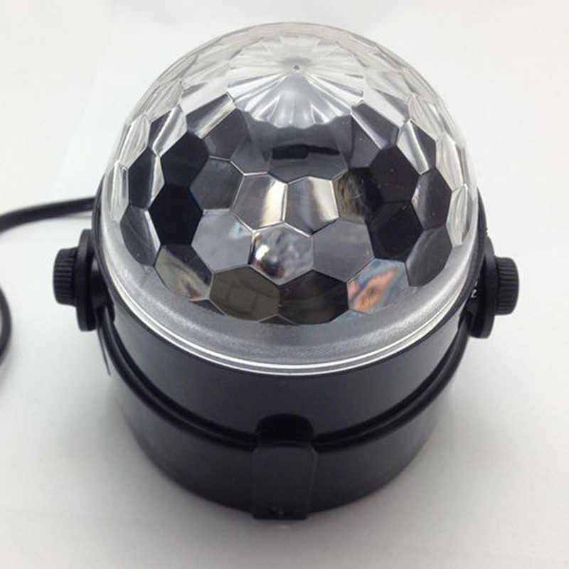 מיני RGB LED כדור קסם קריסטל שלב אפקט הנורה מנורת תאורת מועדון דיסקו מסיבת DJ מופע אור לומייר