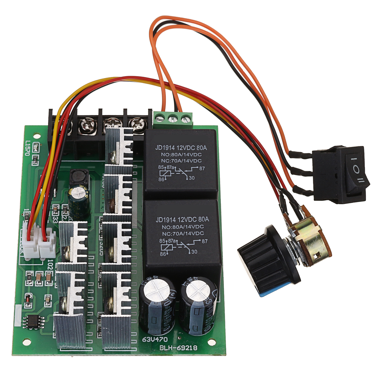 DC 10-50V 12//24//48V 60A PWM DC Motor Speed Controller CW CCW Reversible Switch