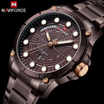 NAVIFORCE 9152 Sport Watches for Man Quartz Wrist Watch Men Waterproof with box