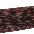 Natural stone 2mm 3mm red garnet stone beads round loose spacers accessories beads fashion women elegant diy jewelry 15inch B438