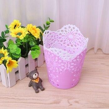 Hollow Flower Brush Storage Pen Pencil Pot Holder Container Desk Organizer Gift фото