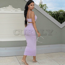 CUERLY Garden 2 Layers Maxi Dress Long Pink Bodycon Women Elegant Autumn Sexy summer Party Dresses Ladies Club Wear