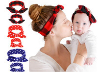 Mom and Me Headband With Knit Cotton Baby Girl Headband Mommy and me Headbands Photo Prop Mom and Baby headwear Set