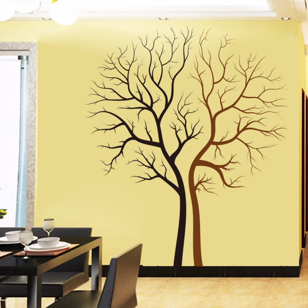 XL Removable Couple Trees VInyl Wall Sticker Living Room Bedroom ...