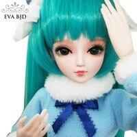 22 EVA BJD полный набор + Miku полный набор Косплей 1/3 BJD Кукла SD куклы мяч шарнирная кукла DIY игрушка фигурка + аксессуары подарок для девочек