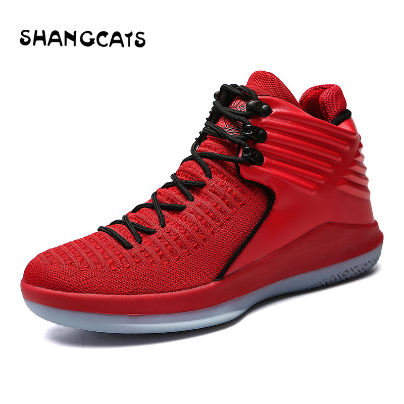 Nouveau Basket chaussures hommes femmes Basket Homme zapatillas de deporte femmes hommes chaussures de sport rouge noir baskets hommes femme taille 36-47