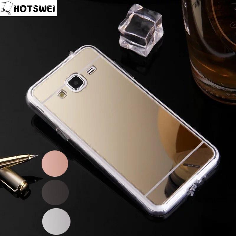 Galleria fotografica J3 2016 Case For Samsung Galaxy J3 2016 J3109 J320 Case Mirror Plating TPU Protective Phone Bag Fundas For Samsung J3 (6) Cover
