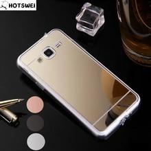Фотография For Samsung Galaxy J3 (6) 2016 Case for SAMSUNG J3 J320F J3109 NEW Luxury Mirror Plating TPU Frame SLIM Phone Cases Back Cover