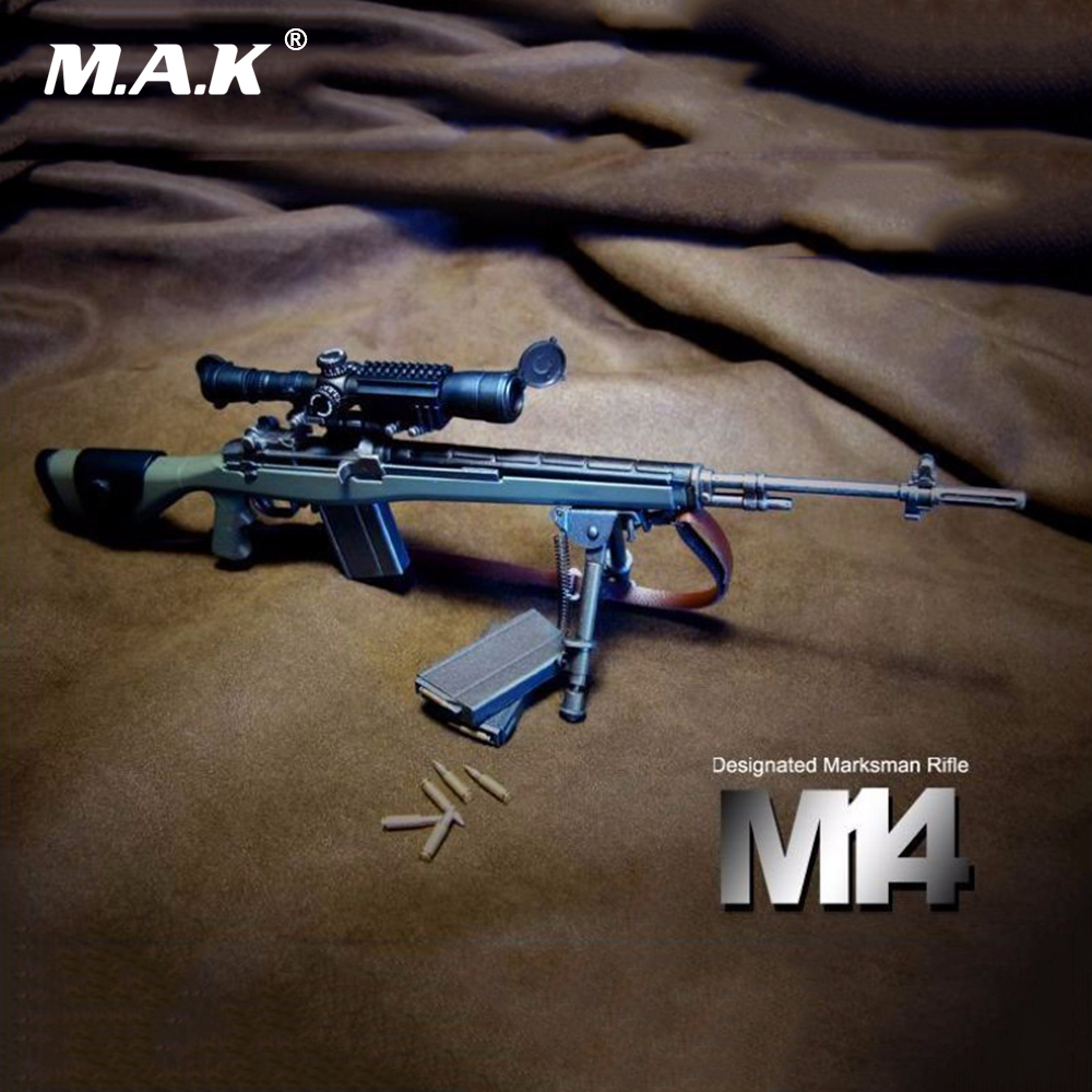 1/6 Scale Soldier Toys Figure Accessory ABS Gun Model Designated Marksman Sniper Rifle M14 for 12 inches Action Figure 1 6 scale soldier figure weapon accessories distressed sniper rifle pistol gun model toy with box for action figure dolls