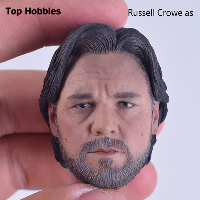 1/6 Scale Head Sculpt Model CUSTOM Man of Steel Superman's father Bing Russell Crowe. as Jor-El Fit 12 Inch Phicen Action Figure