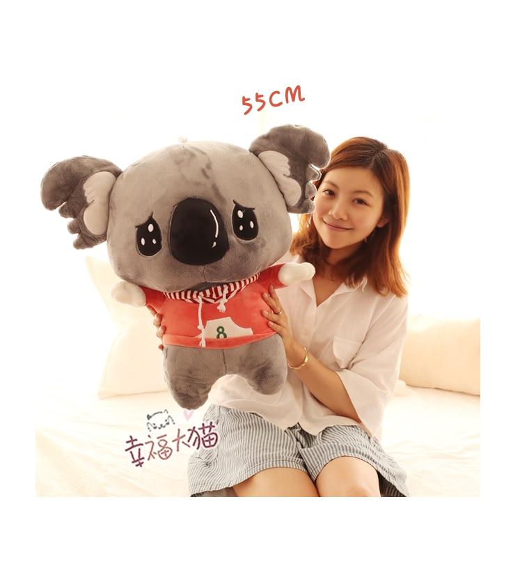 Новинка 2017 года поступление 55 см милый коала плюшевые игрушки куклы коалы кукла подарок на день рождения